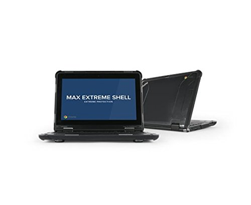 Max Cases Extreme Shell for Lenovo 11e G3/G4 Chromebook Case Offers Dual Layer Protective Shell, Shock and Impact Protective Cover - Black by Max Cases