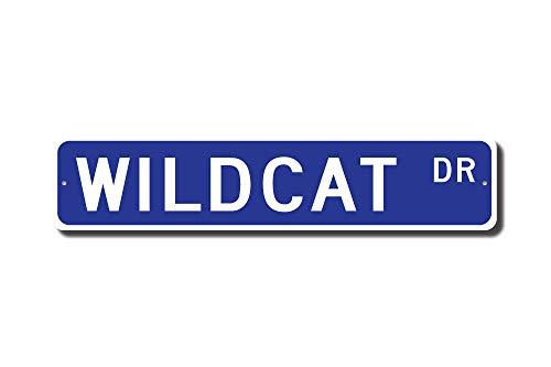 - Iliogine Wildcat Gift Wildcat Sign Wildcat Decor Wildcat Lover Asiatic Wildcat European Wildcat Street Sign Funny Gifts Garage Yard Fence Driveway Decor