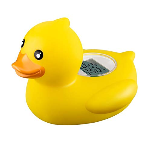 Cute Baby Duck Thermometer Baby Bath Floating Duck Toy Bath Tub Thermometer Water Temperature Tester Toy Thermometer for Baby Bathing(Yellow)