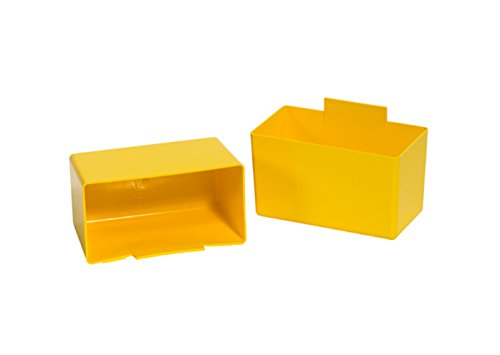 RetailSource 3 1/4'' x 1 3/4'' x 3'' Yellow Shelf Bin Cups (Pack of 48) by RetailSource