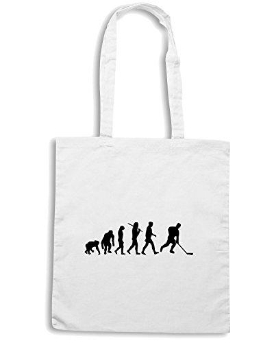 T-Shirtshock - Bolsa para la compra OLDENG00069 evolution of ice hockey Blanco