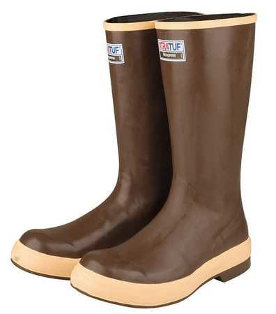 Knee Boots, Size 9, 16'' H, Brown, Plain, PR