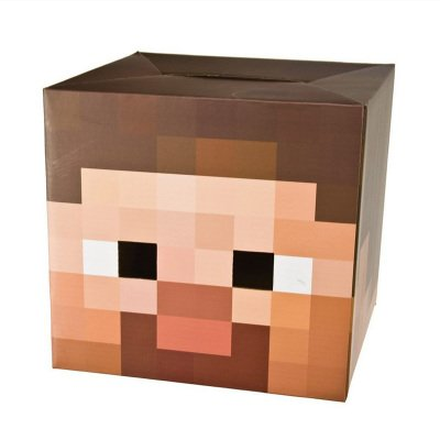 Minecraft Steve Creeper Enderman Box Head Costume Mask (Minecraft Spider Costume)