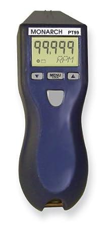 MONARCH PT99 Tachometer,5 to 99,999 rpm