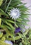 BIRUGEAR Solar Powered Sun Flower Garden Yard Stake Color Change Light - 2 Pcs