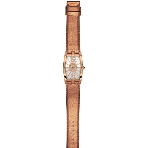 Charmex Nizza 6076 28.5x38.5mm Diamonds Stainless Steel Case Calfskin Synthetic Sapphire Women's Watch