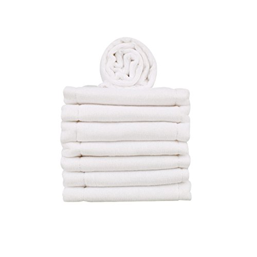 8 Pack Burp Cloth,Prefold Diaper Covers with Absorbent Padding,13 x 19 Inch,2+4+2 by Hibaby