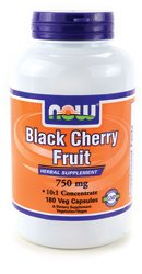 NOW Foods Black Cherry Fruit 750 mg - 180 Veg Capsules