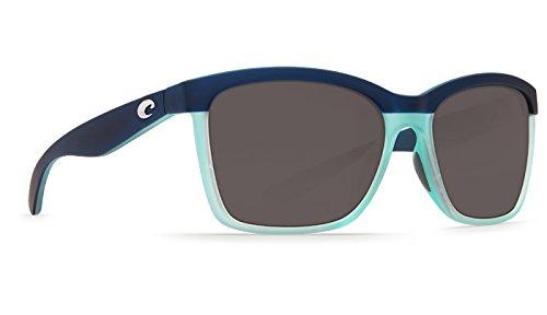 Costa Del Mar Anaa Sunglass,Matte Caribbean Fade Gray - Eyewear Sun Caribbean
