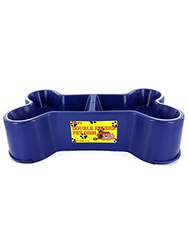 Bone-shaped pet dish (assorted colors), Case of 72 by duke's