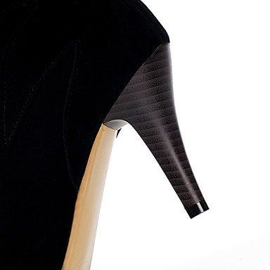 LFNLYX Mujer-Tacón Stiletto-Botas a la Moda-Botas-Oficina y Trabajo / Casual / Fiesta y Noche-Semicuero-Negro / Amarillo / Rojo Yellow