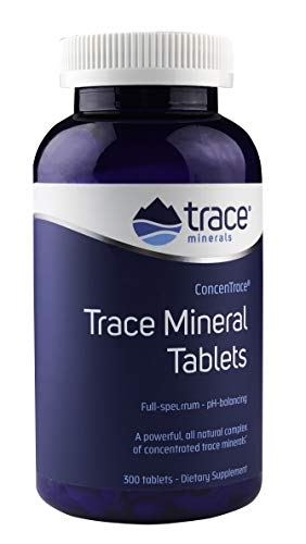 Trace Minerals Research Trace Mineral Tablets, Low Sodium, 300 ()