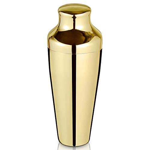 Cocktail Shaker - 17oz/500ml Parisian Cocktail Shaker, 304 Stainless Steel Cocktail Shaker, Essential Bartender Tool - CTSK0012-GP (Gold)