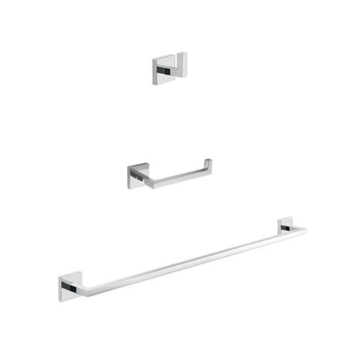 Gedy ELBA1100 Elba Modern Bathroom Accessories Set, Chrome