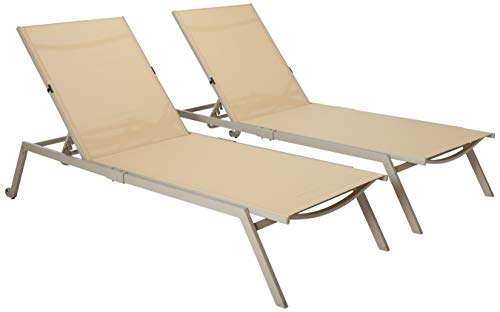 - Ostrich - Princeton 2-Pack All Weather Outdoor Patio Chaise Lounge