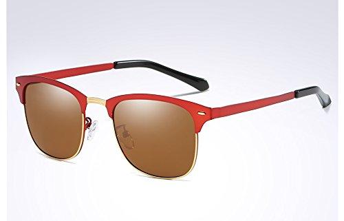 tonos hombres sol sol gafas de de gafas Sunglasses Red para oscuro Classic TL verde Frame polarizadas Black hombres Guía ropa negro brown 8qv4Ya7xw
