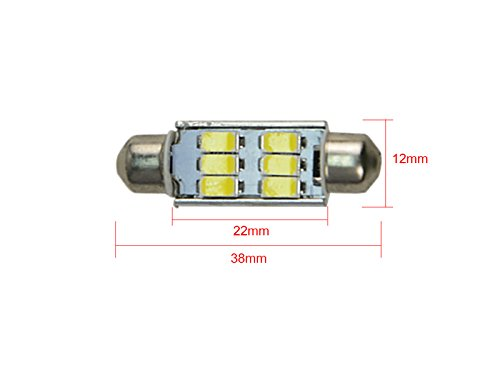 NJYTouch 10 X 38mm 9SMD 3014 211 Warm White Festoon Dome Map Interior LED Light Bulbs With 7 kinds Color