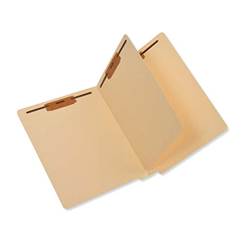 PDC Healthcare FC81611 End Tab Folder, 2-ply, FAS #1 and #3, 11Pt Manila, Divider with 2 Fasteners, 12-1/4