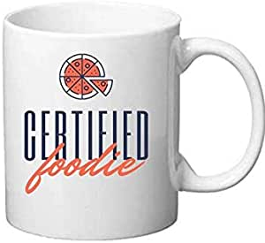 Mugs Certified Foodie, humor, fun, food, White Mug