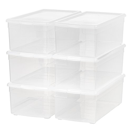 IRIS Media Storage Box, 6 Pack, Clear