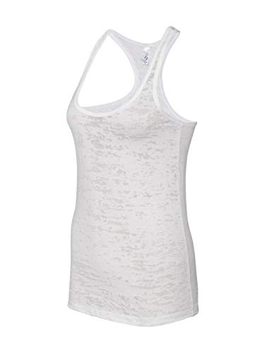 Next Level Womens Burnout Racerback Tank (N6533) -WHITE -S