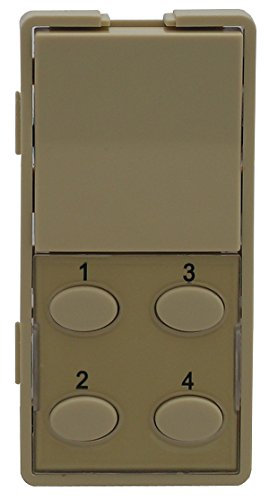 5O-I Single-Rocker with Oval 4-Button Faceplate, Ivory ()