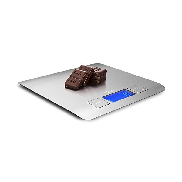 Zenith Digital Kitchen Scale by Ozeri, in Refined Stainless Steel with Fingerprint Resistant Coating 31U 2Bthb3ClL