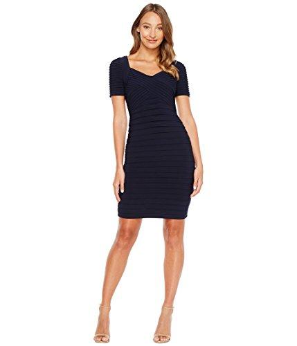 [アドリアナパペル] Adrianna Papell レディース Matte Jersey Banded Sheath Dress with Pin Tucked Bodice ドレス Blue Moon 6 [並行輸入品]
