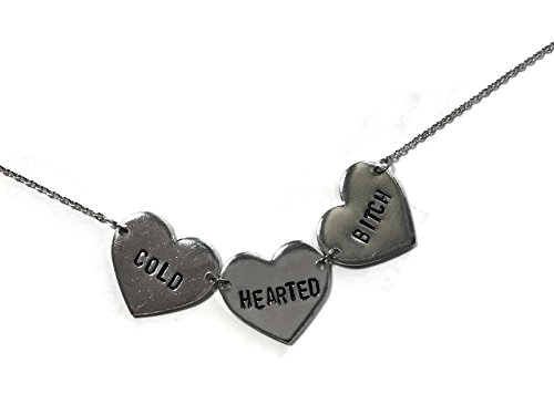 3 heart necklace with customizable text on a stainless steel chain hypoallergenic with lobster clasp 2 small or tiny heart -
