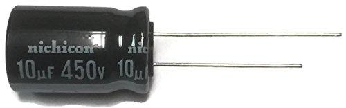 (Set of 4, 105°C Electrolytic Capacitor 10uF 450V (10 mfd 450V) 20% Radial, 1/2