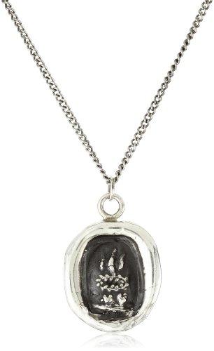 "Pyrrha talisman"" Sterling Silver Soul Mates Necklace"