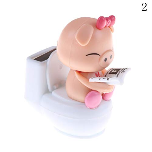 Kayaker Ornament - Cat Solar - Solar Powered Bobble Head Pig Sitting On Toilet Home Car Ornament Kids Toy Blue Toys - Grasshopper Electric Cactus Lucky Cable Gold Adults Toys Ghost Heat Kayaker Alien Rabbit Danci