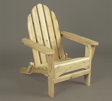 Rustic Natural Cedar Folding Adirondack Chair Kit (0400404)