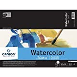 Canson Montval Watercolor Paper: Blocks, 15 Cold Press Sheets, 140 lb./300g, 12'' x 16''