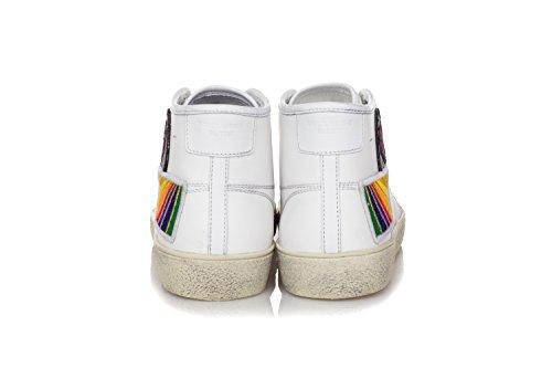 Surf Laurent Schuhe Leder Saint 37M Signature SL Sneakers Weiss Court Herren Aus a04qRd6