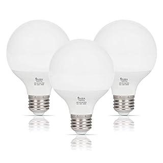 Simba Lighting LED Vanity Globe G25 (G80) Light Bulb for Bathroom, Makeup Mirror | Decorative White Frosted Cover, 8W, 60W Equivalent, 120V, Standard E26 Medium Base, Daylight 5000K, Pack of 3