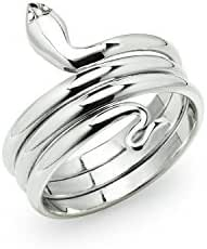 River Island Jewelry - 925 Sterling Silver Unisex Snake Band Ring in sizes 5 - 14