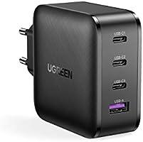 UGREEN USB C Chargeur Rapide 65W 4 Ports USB avec GaN Tech Compatible avec MacBook Pro iPad Pro iPhone 12 Mini Pro Max et...