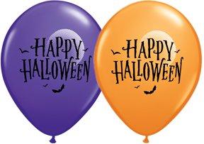 Halloween Balloons - 10 Pack (Happy Halloween Moon)
