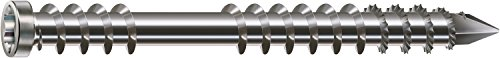 Spax A2 Deck Screw, Cylinder Head, T-Star Plus, Fixing Thread, Cut Tip, 5 x 70 mm by Spax by SPAX (Image #1)