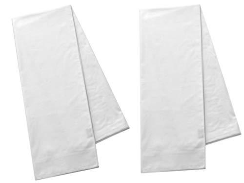 Polycotton Pack of 2 Body Pillow Pillowcases, White, 200 Thread Count, 21x60 White (Fits 20 X54) White (2 Pack - Body - Polycotton)