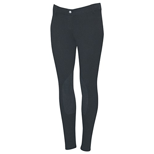 - ELATION Riding Breeches for Women Red Label - Easy Pull-On Equestrian Riding Pants (Black 32R)
