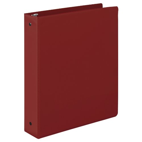 Samsill 1.5 Inch Value Document Storage 3 Ring Binder , Round Ring, 11 x 8.5 Inches, Maroon (11516) (Maroon Round Ring)