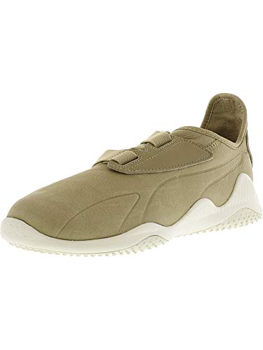 Puma Brown Watch - PUMA Men's Mostro Premium Safari/Whisper White Ankle-High Fashion Sneaker - 9M