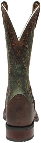 Brown Leather Cowboy Mens Toe Boots Cowboy Boots Green Green Brown Square Laredo FHqwn