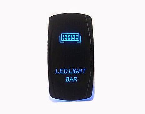 Fan Switch OZ-USA Laser Blue LED Rocker On/Off Switch UTV Truck Polaris RZR XP 900 800 Dash