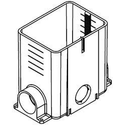 Wiremold 880MP PVC 1-Gang Multi-Service Floor Box 5-1/2 Inch x 4-1/8 Inch x 6 Inch 50 Cubic-Inch ModulinkTM 880MP (Wiremold Floor Box)