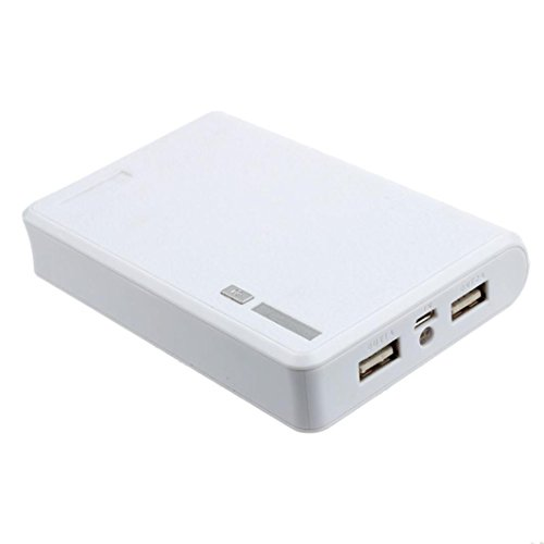 Yoyorule for iphone Smartphone USB 5V 2A 18650 Power Bank Battery Box Charger (White)