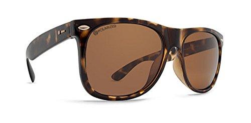(Dot Dash Kerfuffle Adult VC Polarized Sunglasses, Tortoise/Bronze)