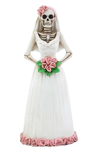 Day of the Dead Dod Purple and White Bride Statue -